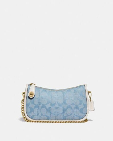 Fashion 4 Coach Swinger 20 In Signature Chambray With Quilting