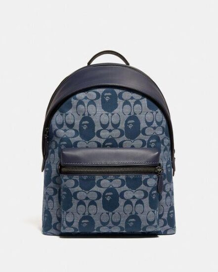 Fashion 4 Coach BAPE x Coach Charter Backpack In Signature Chambray
