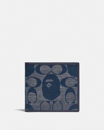 Fashion 4 Coach BAPE x Coach Coin Wallet In Signature Chambray