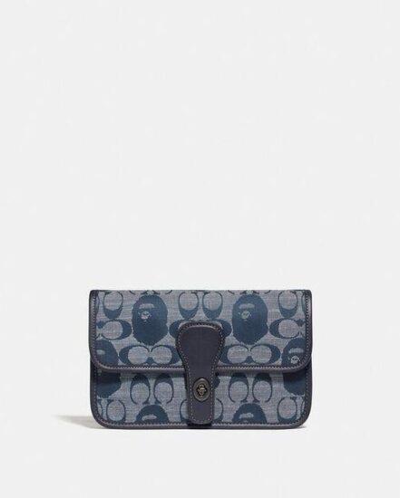 Fashion 4 Coach BAPE x Coach Turnlock Tab Belt Bag In Signature Chambray