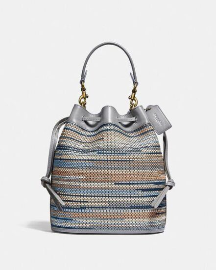 Fashion 4 Coach Field Bucket Bag In Upwoven Leather