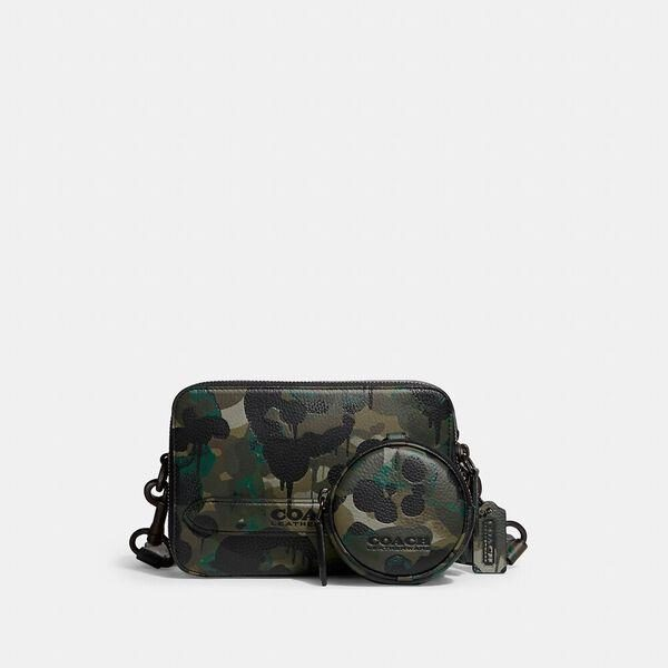 Fashion 4 Coach Charter Crossbody With Hybrid Pouch With Camo Print