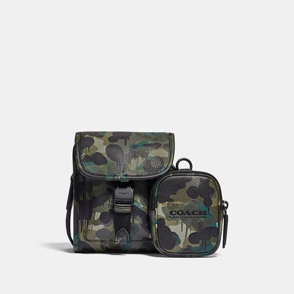 Fashion 4 Coach Charter North/South Crossbody With Hybrid Pouch With Camo Print