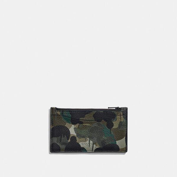 Fashion 4 Coach Zip Card Case With Camo Print
